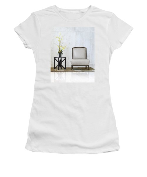 A Chair And A Table With A Plant  Women's T-Shirt