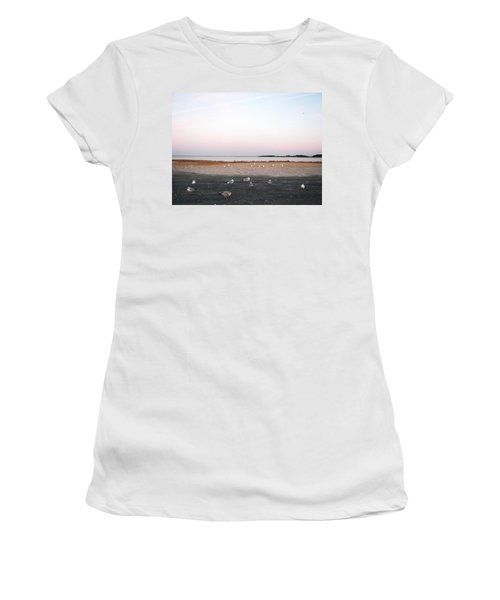 Women's T-Shirt (Junior Cut) featuring the photograph A Gathering On Rehoboth Bay by Pamela Hyde Wilson