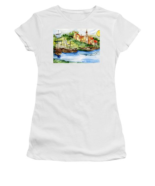 A Little Fisherman's Village Women's T-Shirt (Athletic Fit)