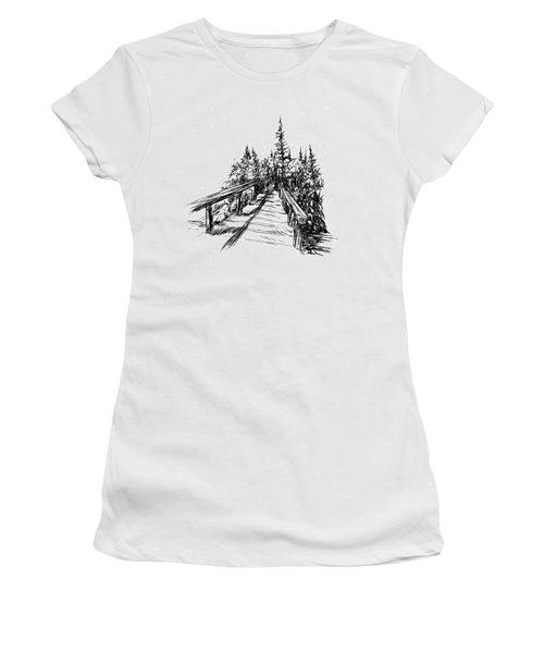 Across The Bridge Women's T-Shirt (Athletic Fit)