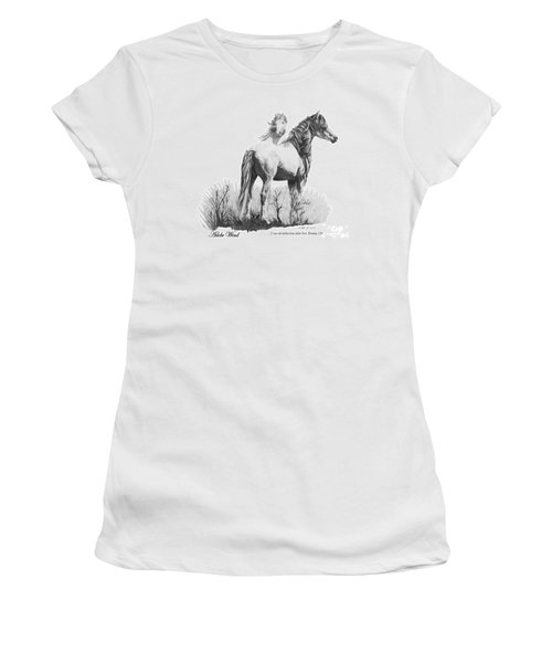 Women's T-Shirt (Junior Cut) featuring the drawing Adobe Wind by Marianne NANA Betts