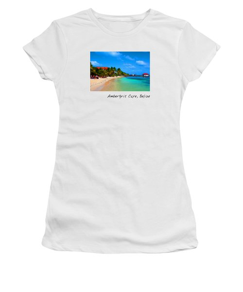 Ambergris Caye Belize Women's T-Shirt (Athletic Fit)