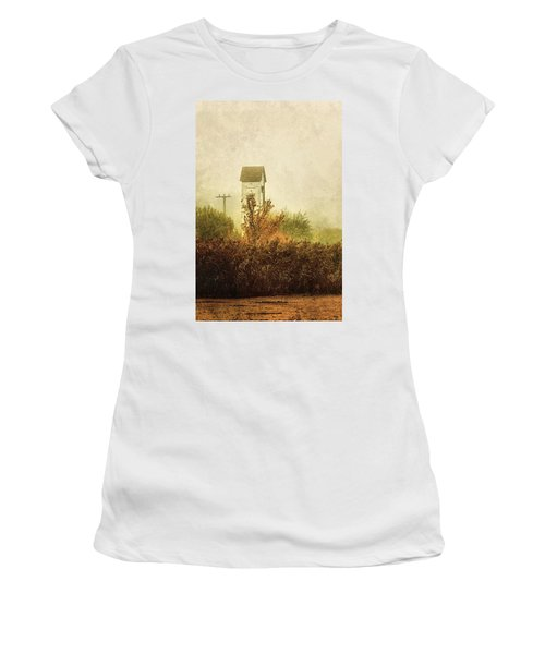 Ancient Transformer Tower Women's T-Shirt (Athletic Fit)