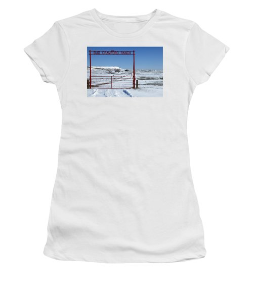 Another Snow On Crawford Ranch Women's T-Shirt