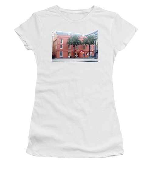 Women's T-Shirt (Junior Cut) featuring the photograph Arby's At Dawn by Alys Caviness-Gober