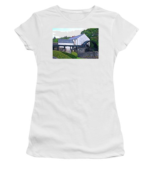 Women's T-Shirt (Junior Cut) featuring the photograph Auld Mill  by Charlie and Norma Brock