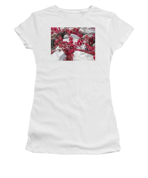 Autumn Color Is Red Women's T-Shirt (Athletic Fit)