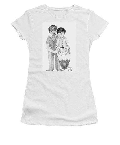 Babushka Women's T-Shirt (Junior Cut) by Rachel Hershkovitz