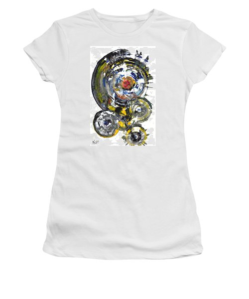Black And White Shines Brightly  843.120911 Women's T-Shirt (Junior Cut) by Kris Haas