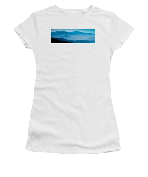 Blue Ridges Panoramic Women's T-Shirt (Athletic Fit)