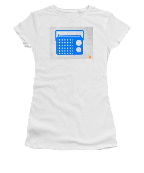Blue Transistor Radio Women's T-Shirt