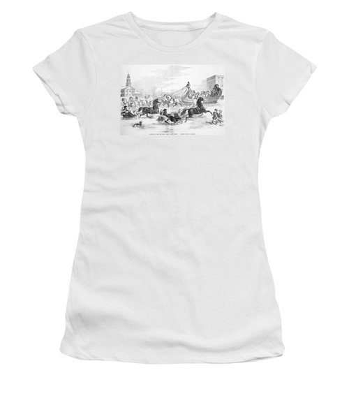 Boston: Sleighing, 1856 Women's T-Shirt
