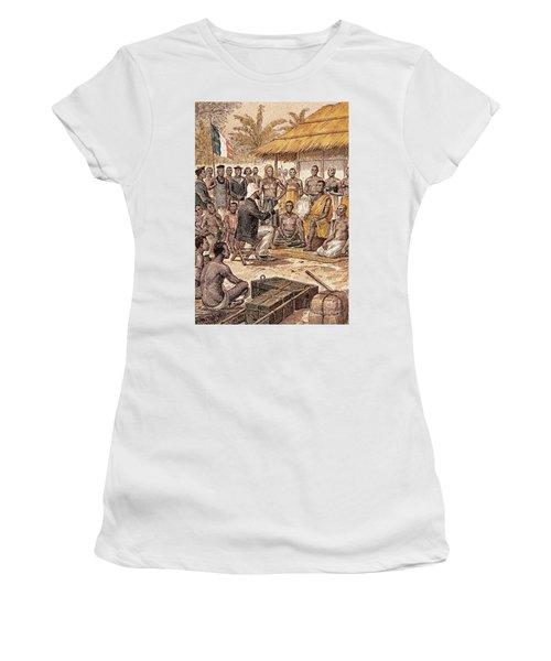 Brazza In Africa, 1880 Women's T-Shirt