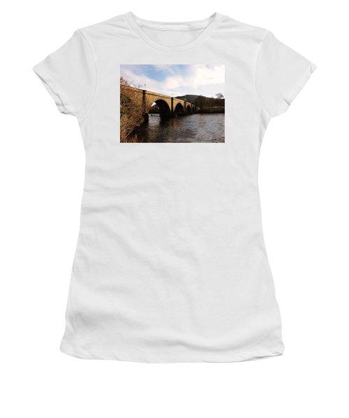 Women's T-Shirt (Junior Cut) featuring the photograph Bridge Across River Tay by Lynn Bolt