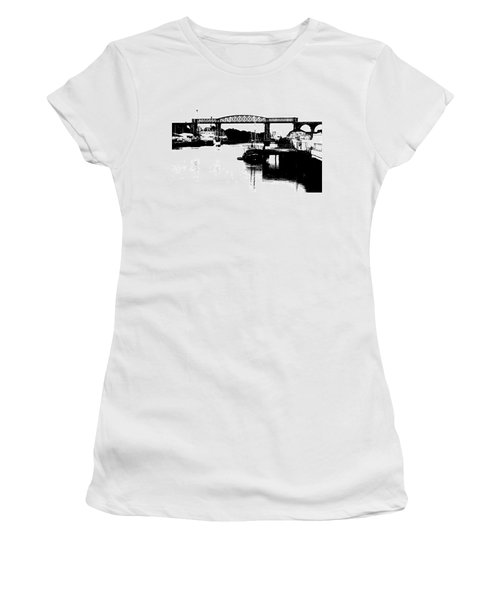 Women's T-Shirt (Junior Cut) featuring the photograph Bridge On The Boyne by Charlie and Norma Brock