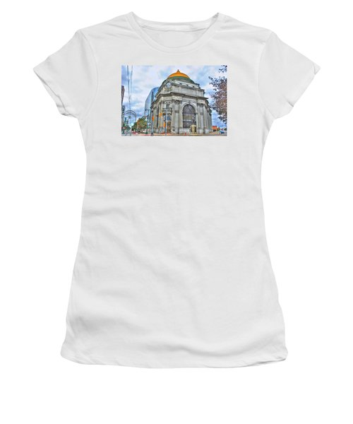 Women's T-Shirt (Junior Cut) featuring the photograph Buffalo Savings Bank  Goldome  M And T Bank Branch by Michael Frank Jr