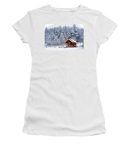 Cabin In The Snow Women's T-Shirt