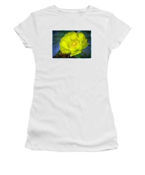 Cactus Flower Women's T-Shirt (Junior Cut) by Judi Bagwell