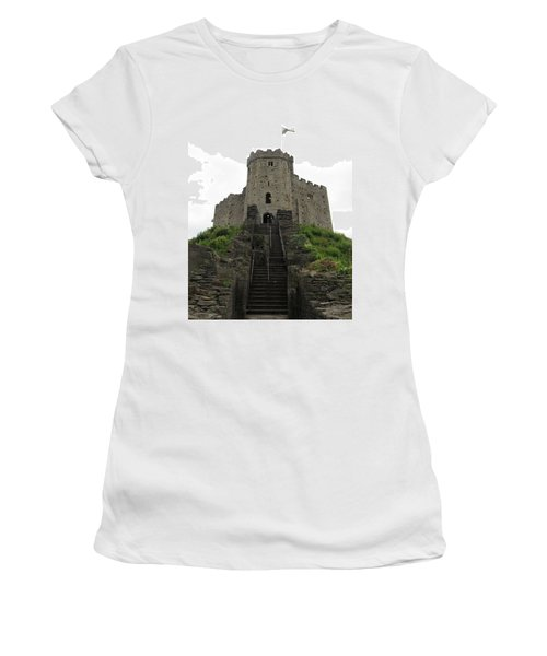 Cardiff Castle Women's T-Shirt (Athletic Fit)