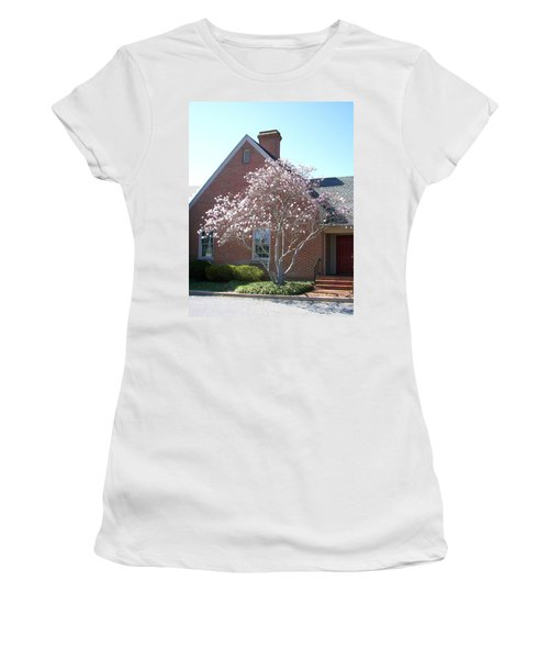 Women's T-Shirt (Junior Cut) featuring the photograph Cherry Blossom by Pamela Hyde Wilson