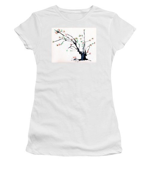 Cherry Tree By Straw Women's T-Shirt (Athletic Fit)