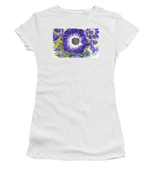 Cineraria Of South Africa  Women's T-Shirt (Junior Cut) by Bernadette Krupa