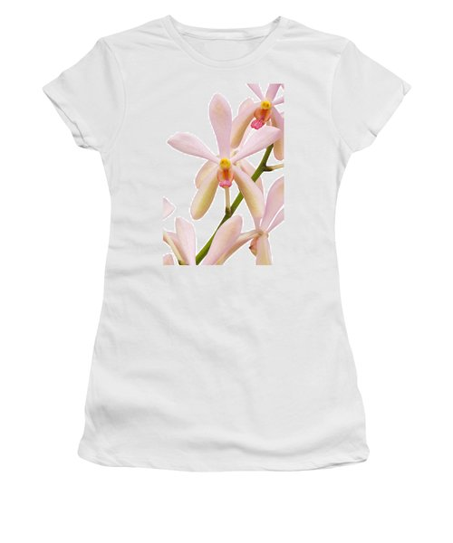 Closeup Pink Orchid Women's T-Shirt (Junior Cut) by Atiketta Sangasaeng