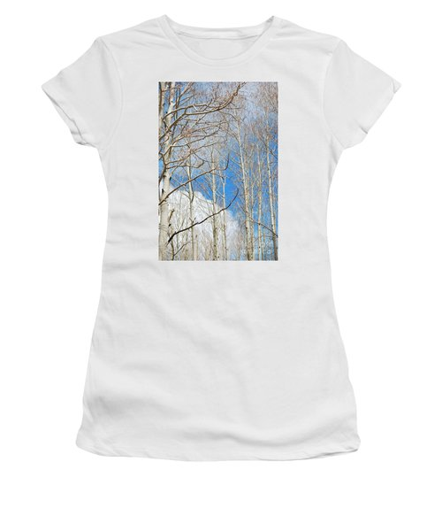 Cloudy Aspen Sky Women's T-Shirt (Athletic Fit)