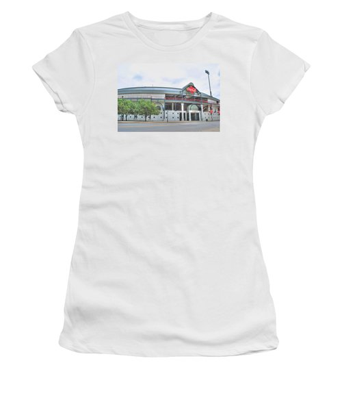 Women's T-Shirt (Junior Cut) featuring the photograph Coca Cola Field  by Michael Frank Jr