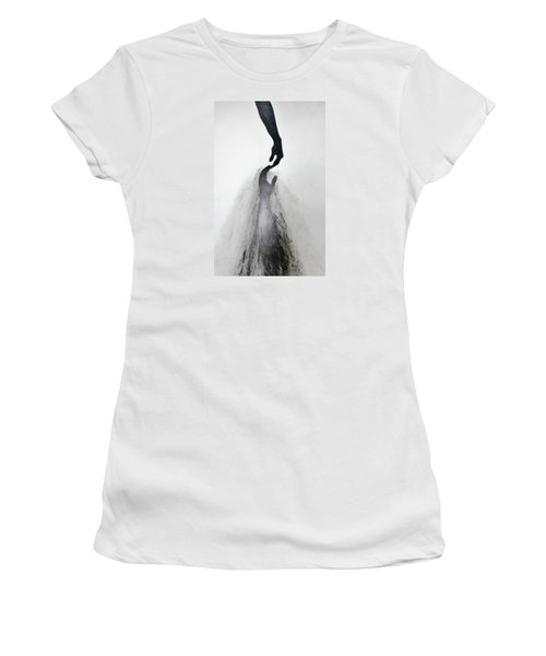 Women's T-Shirt (Junior Cut) featuring the drawing Coming Apart 3 by Michael Cross