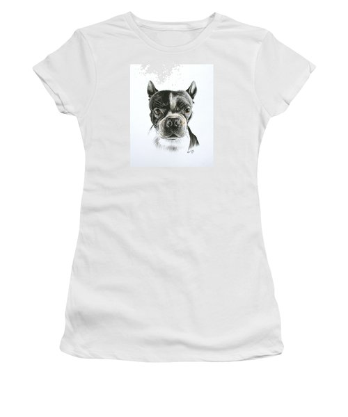 Women's T-Shirt (Junior Cut) featuring the drawing Cooper by Mike Ivey