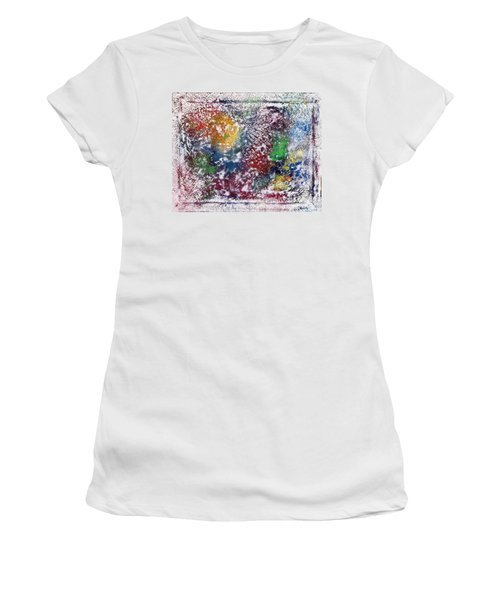 Women's T-Shirt (Junior Cut) featuring the painting Cosmos by Alys Caviness-Gober