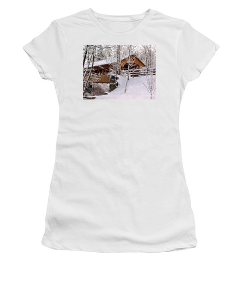 Covered Bridge At Olmsted Falls - 2 Women's T-Shirt
