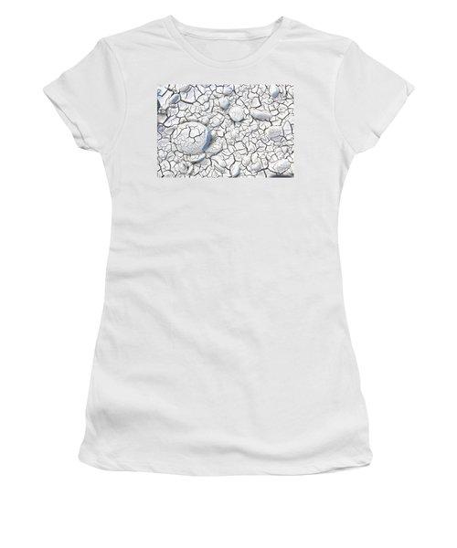 Women's T-Shirt (Junior Cut) featuring the photograph Cracked Earth by Nareeta Martin
