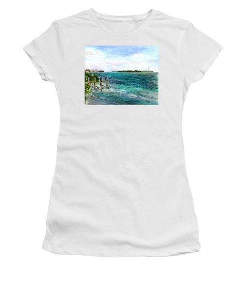 Cudjoe Bay Women's T-Shirt (Junior Cut) by Clara Sue Beym