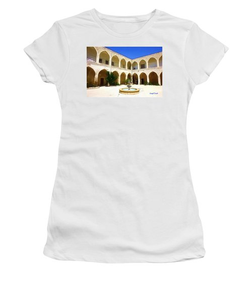 Women's T-Shirt (Athletic Fit) featuring the photograph Do-00494 Inside Court Saidet El-nourieh by Digital Oil