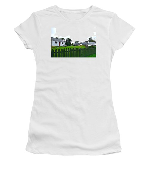 Women's T-Shirt (Junior Cut) featuring the photograph Donegal Home by Charlie and Norma Brock