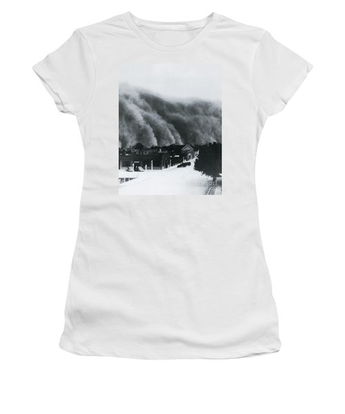 Dust Storm Of 1937 In Clayton, Nm Women's T-Shirt