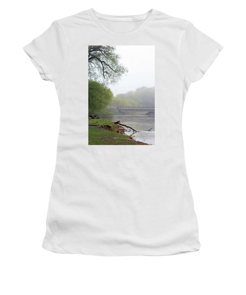Women's T-Shirt (Junior Cut) featuring the photograph Early Spring Morning Fog by Kay Novy