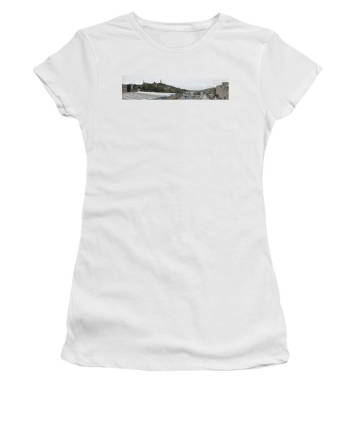 Edinburgh Station Panorama Women's T-Shirt (Athletic Fit)