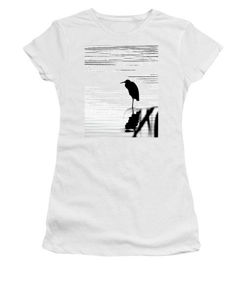 Women's T-Shirt (Junior Cut) featuring the photograph Egret  by Lizi Beard-Ward