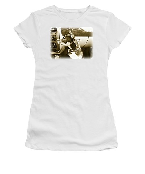 Women's T-Shirt (Junior Cut) featuring the photograph First Ride Home by Pamela Hyde Wilson