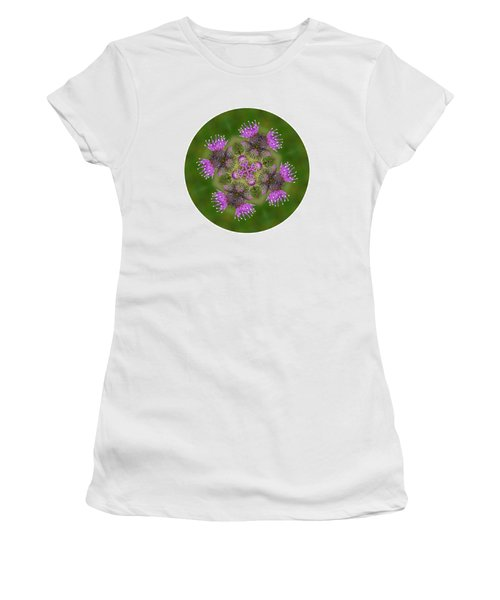 Women's T-Shirt (Junior Cut) featuring the photograph Flower Of Scotland by Lynn Bolt