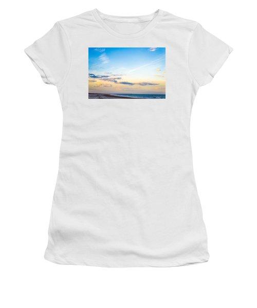 Women's T-Shirt (Junior Cut) featuring the photograph Forte Clinch Pier by Shannon Harrington