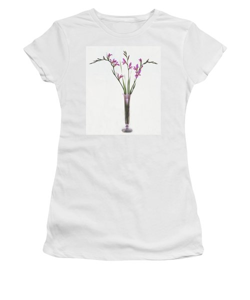 Freesias In Vase Women's T-Shirt (Junior Cut) by Susan Rovira