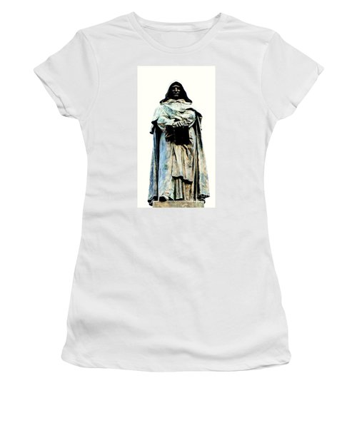 Giordano Bruno Monument Women's T-Shirt (Junior Cut) by Roberto Prusso