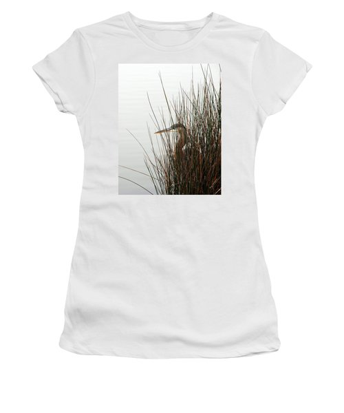 Great Blue Heron Women's T-Shirt (Junior Cut) by Kay Lovingood