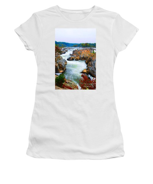 Great Falls On The Potomac River In Virginia Women's T-Shirt (Athletic Fit)