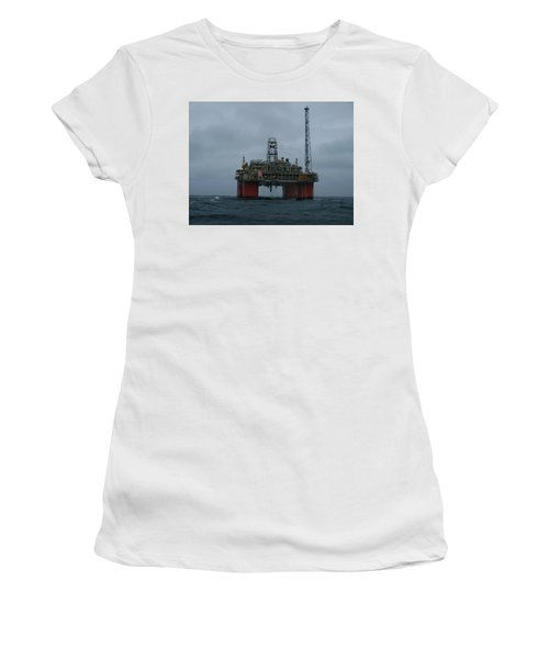 Grey Day At Snorre Women's T-Shirt (Athletic Fit)