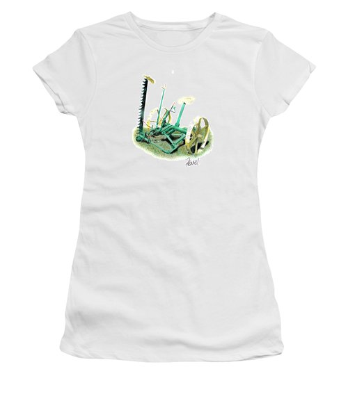 Hay Cutter Women's T-Shirt (Junior Cut) by Ferrel Cordle
